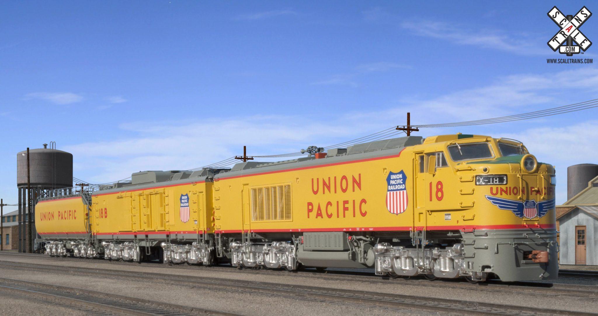 Union Pacific GTEL 8500 Horsepower ''Big Blow'' Turbine #18 DCC e Som ESU de Fábrica ''Modelo Rivet'' - SXT-30009