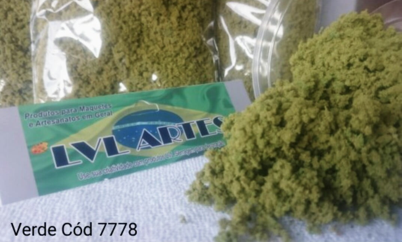 Vegetação para Decoração de Maquetes/Dioramas (Turf) Verde Claro  VVL- 7778