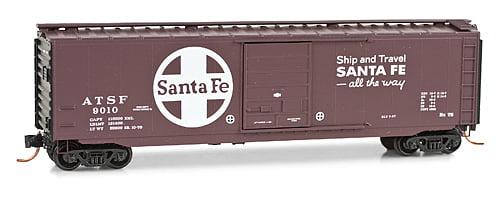 """N"" Vagão 50 pés, PS-1 - Santa Fé #9010 - Micro trains  031 00 420"