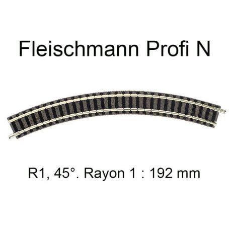 "Trilho Curvo R 1 45º ""N"" Fleischmann ""picollo"" - 9120"