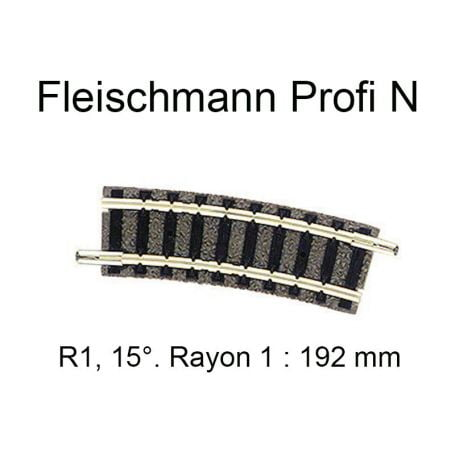 "Trilho Curvo R 1 ""N"" Fleischmann ""picollo"" - 9122"