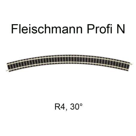 "Trilho Curvo R 4 R 30º ""N"" Fleischmann ""picollo"" - 9135"