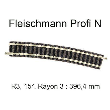 "Trilho Curvo R 3  15º ""N"" Fleischmann ""picollo"" - 9131"