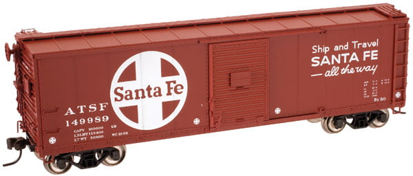 Vagão Box Car, Santa fé-  Atlas - 45864