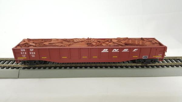 """Vagão Gôndola 50"""" Com Carga BNSF -  Con-Cor - 0001-014062(1)"""