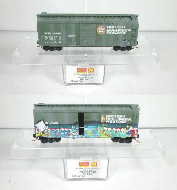 Vagão Standard  Box Car,  Plug & Sliding  Door- British Columbia Railway  Micro-Trains - 022 44 080