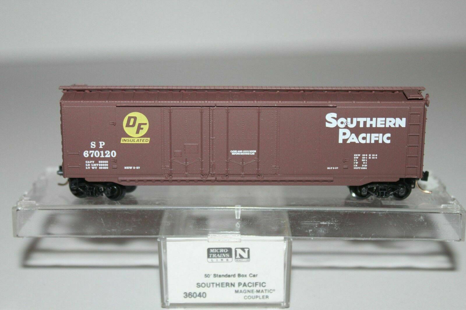 Vagão Standard Stell Box Car, Double Plug Door- Southern Pacific  Micro-Trains - 36040