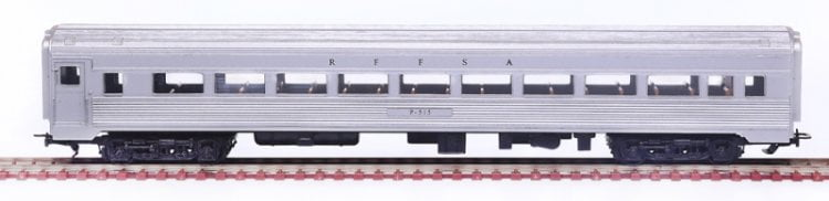 Carro 1a CLasse Aço Inox RFFSA -2501