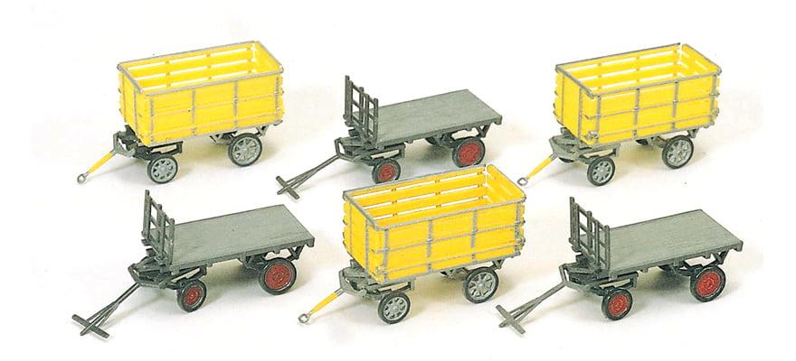 Kit  Preiser de Carrinhos para Transporte de Bagagem e Carga - 17112
