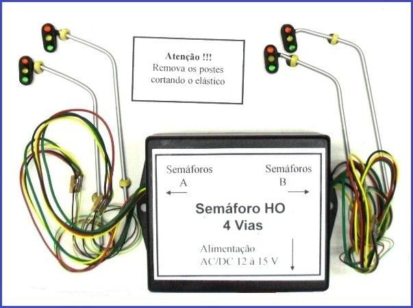 SEMÁFORO DE TRÂNSITO  HO - 4 VIAS - E-12