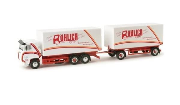 """Caminhão Scania 111 WeKoHzg. Modelo """"Röhlich"""" 1:87 - Herpa 156905"""