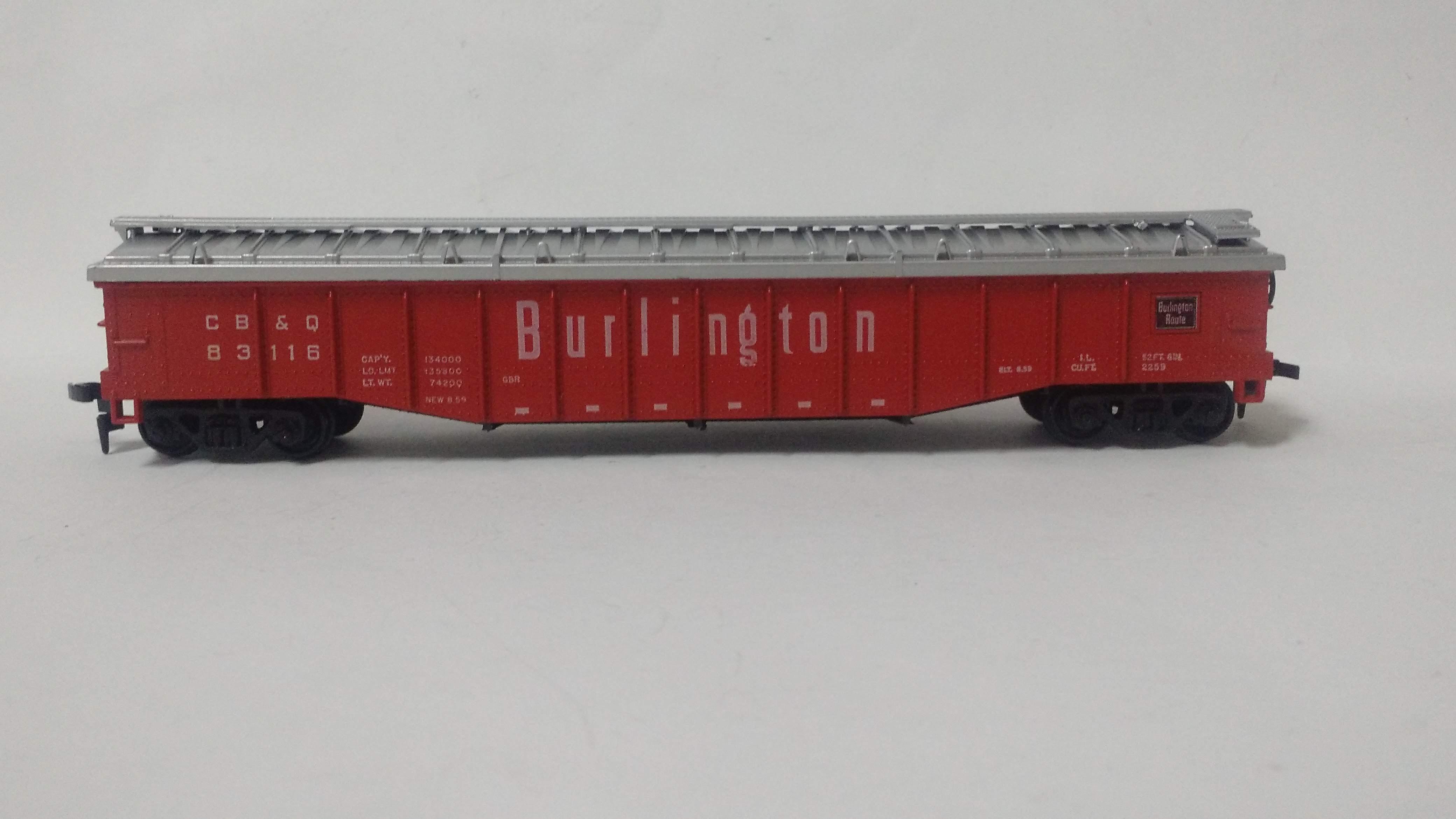 Vagão Gôndola com Cobertura Burlington Route # 83116 Atlas
