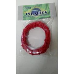 Fio Elétrico 0,20 mm para Maquete  10 mts - LVL F vermelho 1