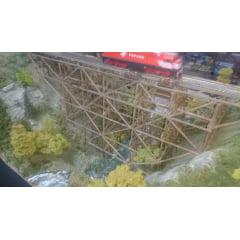 Estrutura de Ponte para Decoração Maquetes/Dioramas LVL 0318G