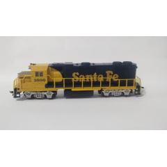 Locomotiva GP 40 Santa Fé com Motor #3500 - Life Like