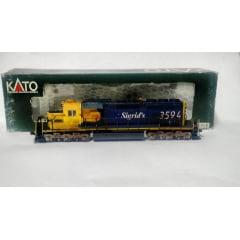 Locomotiva SD 40 Sigrid's #3594 ( Pintura Fantasia) - Kato Japan