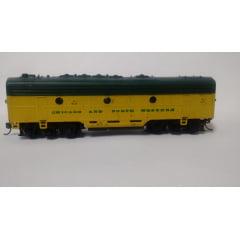"Unidade ""B"" Locomotiva F7 Sem Motor - Chicago and North western - Athearn"