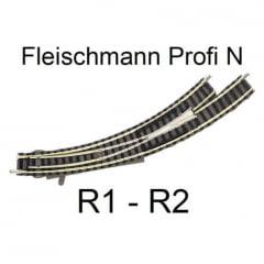 "Desvio Manual Curvo Esquerdo ""N"" Fleischmann ""piccolo"" - 9168"
