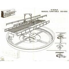 KIT DE MESA GIRATÓRIA MANUAL WALTHERS CORNERSTONE 120 'ESCALA N # 933-3203