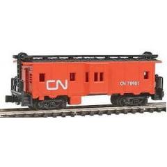 """N"" Vagão Caboose CN #78901- Model Power 83130- Knuckle Coupler"