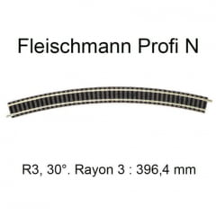 "Trilho Curvo R 3  30º""N"" Fleischmann ""picollo"" - 9130"