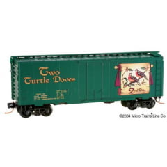 Vagão Box Car Plug Door 40' Christmas Two Turtle Doves  Micro-Trains - 21502