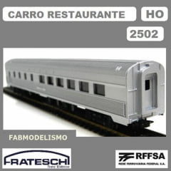 Carro Restaurante Aço Inox RFFSA - 2502