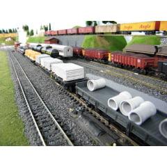 Carga de Tubo de Esgoto Cimento 3 Peças - H-72