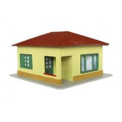 Casa Brasileira 4 Águas Amarela/Verde Musgo - C-18