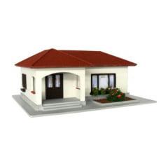 Casa Brasileira em L Branca/Marrom - C-19C