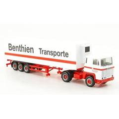 Caminhão  Scania 111, Benthien Transporte, semi reboque frigorífico - Herpa 157575