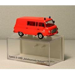 Carro de Bombeiro Barkas B1000 DB Bahn Rostock GW - Brekina - 30208