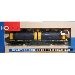 Vagão Tanque Gold Line 100 Ton 55 'Cushion Coil Cars #230014  (revisado) - Union Pacific (tampas redondas, azul, amarelo)